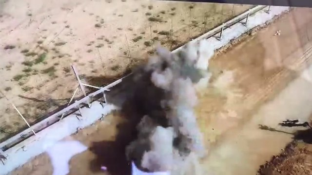 The controlled detonation of the explosive charge (Photo: IDF Spokesperson's Unit)