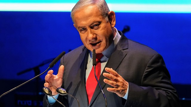 PM Netanyahu speaking in the Galilee conference (Photo: Effi Sharir)