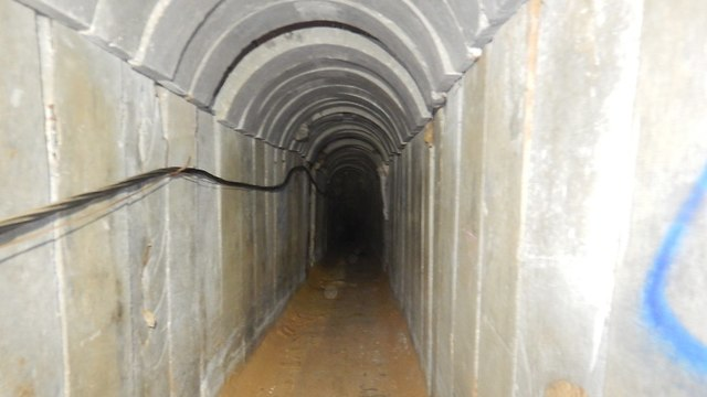 The Hamas tunnel running under Kerem Shalom was used for both smuggling and terrorism (Photo: IDF Spokesperson's Unit)
