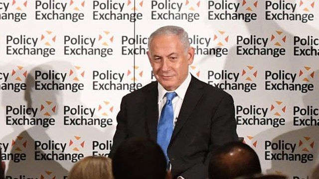 Prime Minister Netanyahu at the Policy Exchange Institute (Photo: Haim Tzah/GPO)
