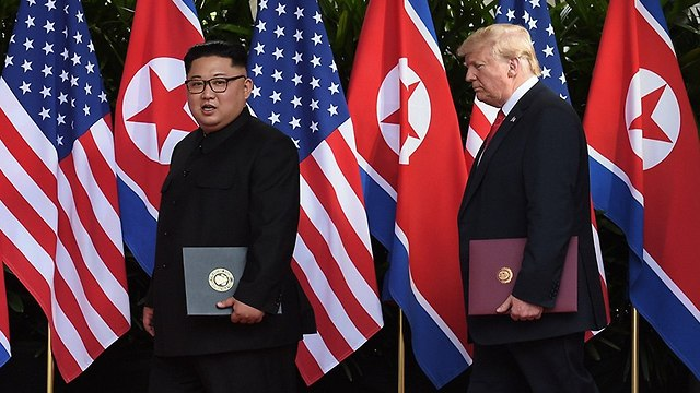 Trump and Kim. 'I'm going to be actually calling North Korea' (Photo: Reuters)
