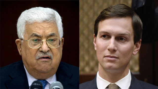 PA President Mahmoud Abbas and Jared Kushner (Photo: AP, MCT)