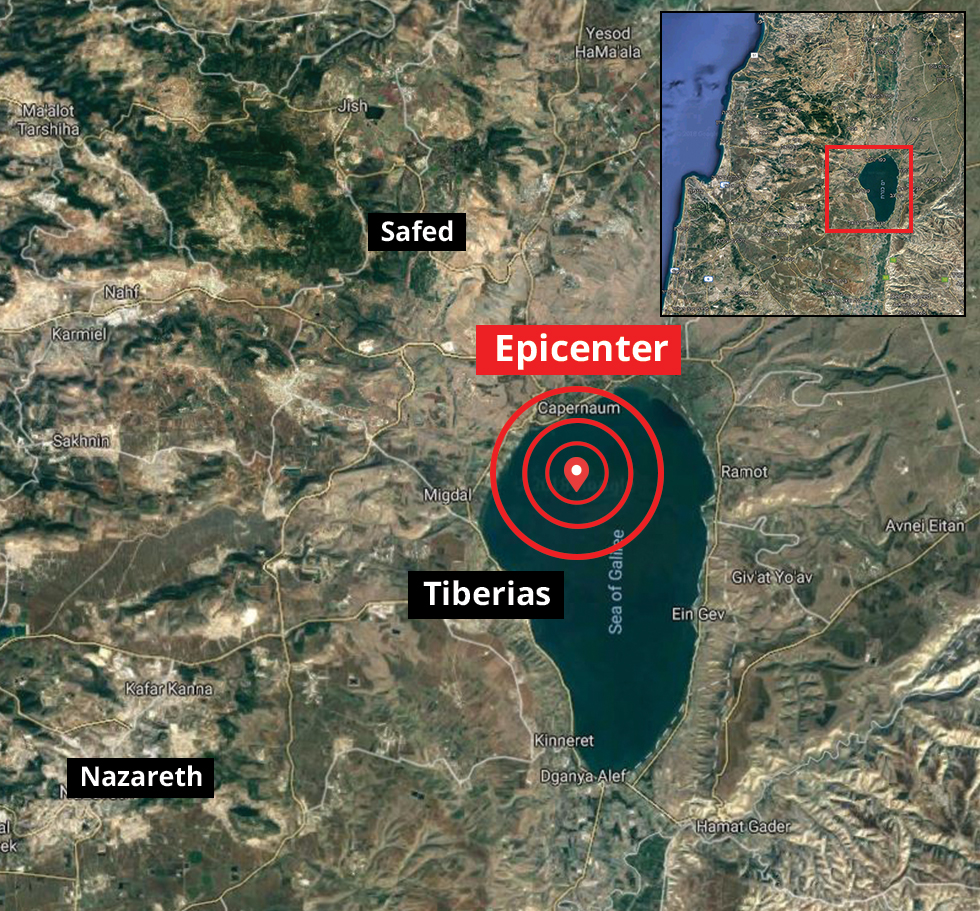 Earthquake in Tiberias