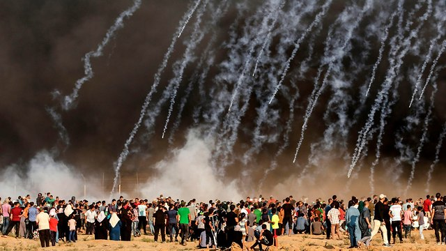 Gaza border riots (Photo: AFP)