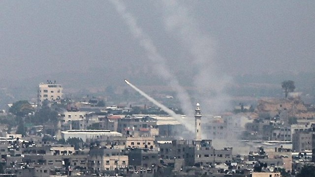Rocket fired from Gaza Strip (Photo: AFP)
