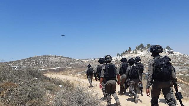 Border Police troops in the area of Yitzhar