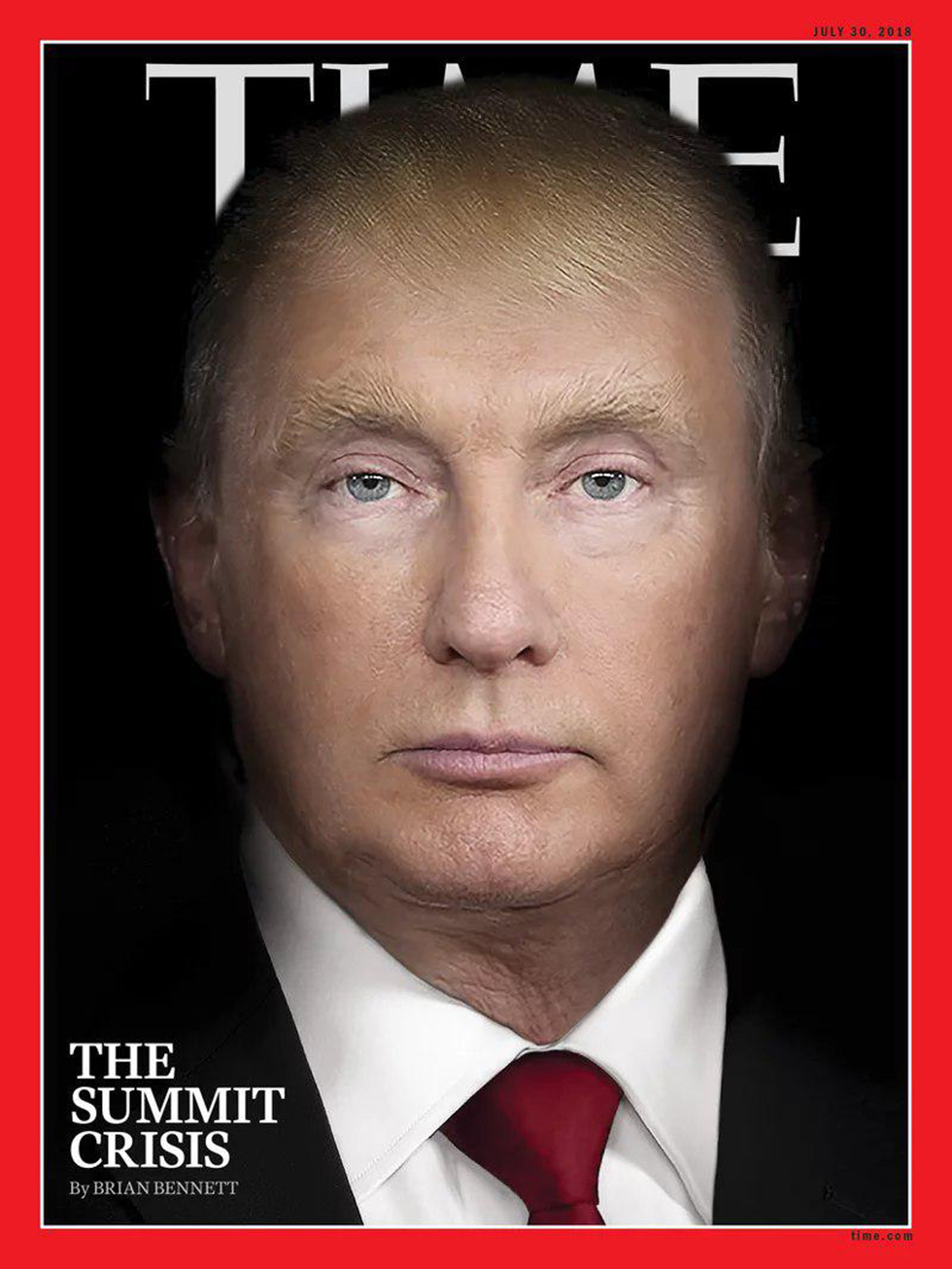 Time magazine cover: Putin and Trump photoshopped together