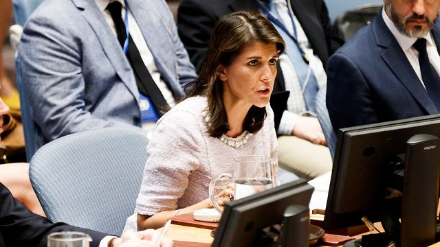 Nikki Haley in the UNSC (Photo: EPA)