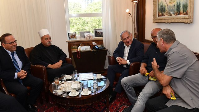 PM Netanyahu meets with Druze leaders (Photo: Kobi Gideon/GPO)