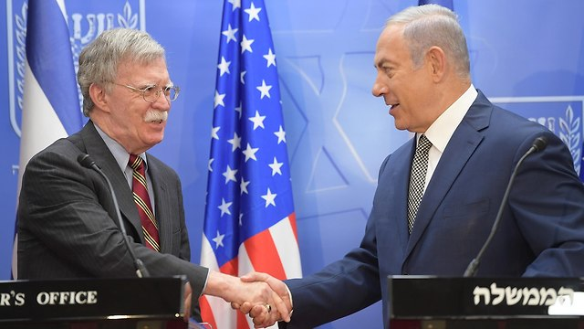 Bolton meets with Netanyahu in Jerusalem (Photo: Amos Ben Gershom/GPO)