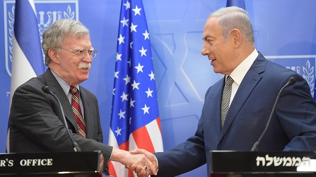National Security Adviser John Bolton and Prime Minister Netanyahu (Photo: Amos Ben Gershom GPO)