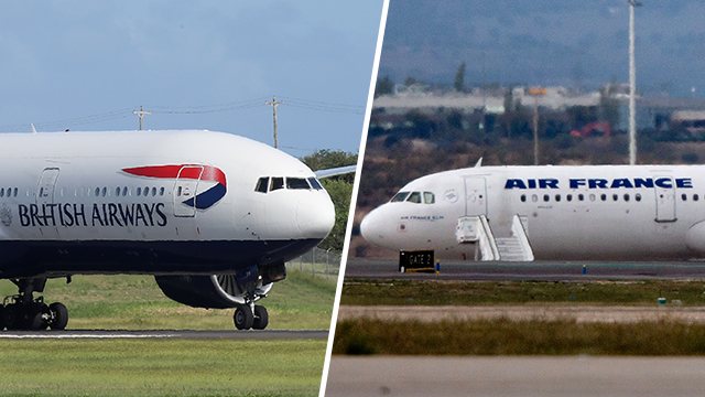 British Airways and Air France (Photos: GettyImages)