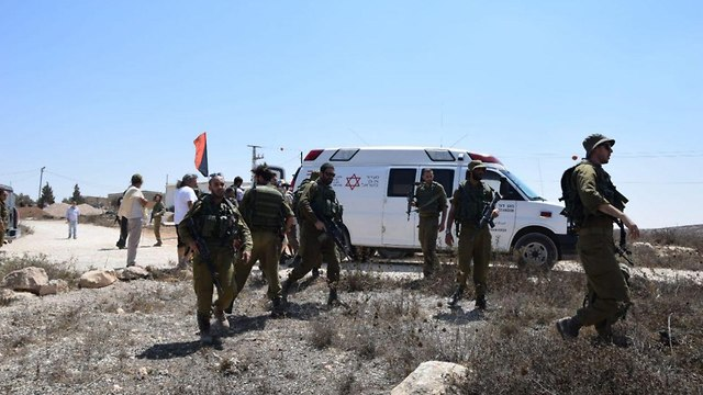 Left-wing activists evacuated to the hospital