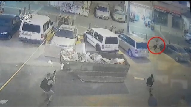 Scene of attempted terror attack (Photo:  Israel Police National Spokesman )