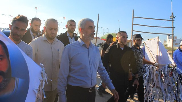 Yahya Sinwar with other Hamas leaders