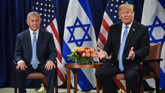 Prime Minister Netanyahu meets with US President Trump (Photo: AFP)