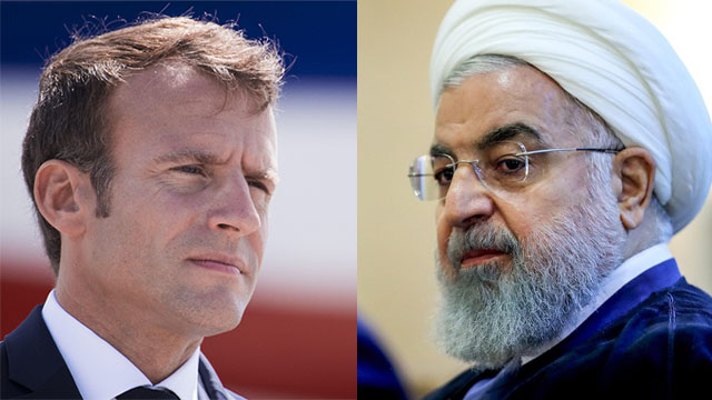 French President Macron; Iranian President Rouhani (Photos: AFP, MCT)