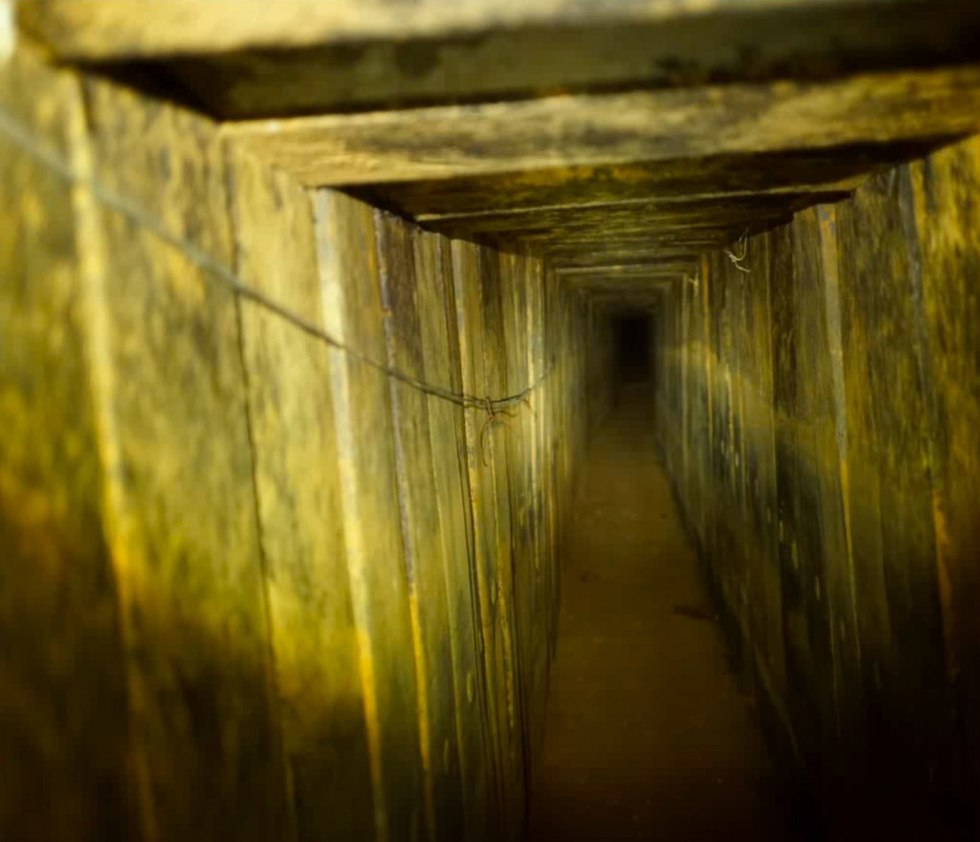 Tunnel discovered this week (Photo: IDF Spokesman's Office)