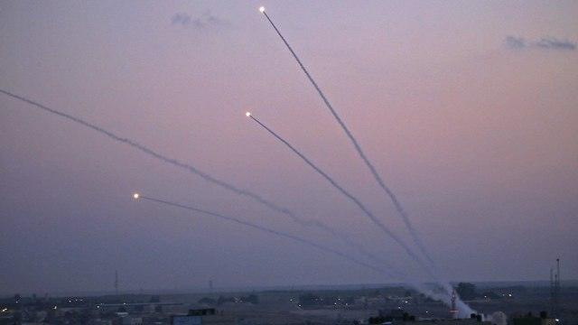 Rockets fired from Gaza at southern Israel (Photo: AFP)