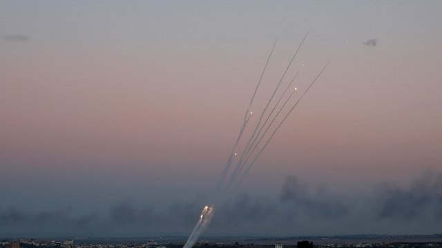 Rockets being fired into Israel from Gaza (Photo: AP)