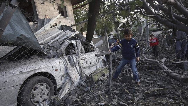 Wreckage in Gaza   (Photo: AFP)