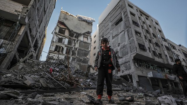Destruction in Gaza following the IAF bombing (Photo: EPA)