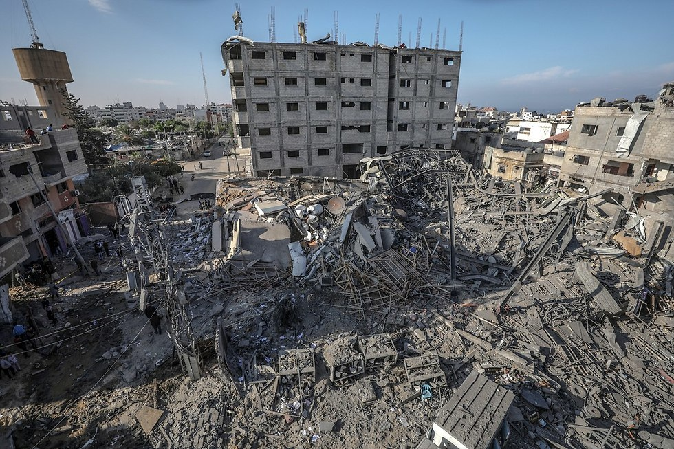 Destruction in Gaza  (צילום: EPA)
