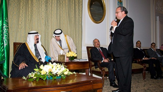 Rabbi Marc Schneier with leaders of Gulf states (Photo: Rabbi Marc Schneier)
