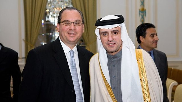 Rabbi Marc Schneier with foreign minister of Saudi Arabia (Photo: Rabbi Marc Schneier)