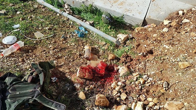 Stone used to attack the IDF soldier in Beit El (Photo: Ofra youth)