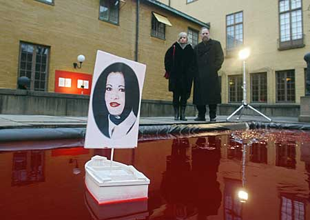 The 'Snow White' installation in Stockholm, 2004 (Photo: AFP)