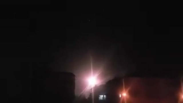 Explosions in Damascus during Israeli airstrikes, January 11, 2019