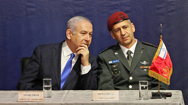 Prime Minister and Defense Minister Netanyahu and new IDF Chief of Staff Kochavi (Photo: Reuters)