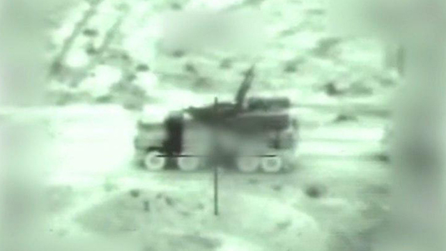 Satellite footage of an air defense site in Syria that was targeted by the IAF  (Photos: IDF Spokesperson's Unit)