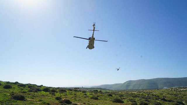 An IDF helicopter flies over the Jordan Valley (Photo: IDF Spokesperson's Unit)