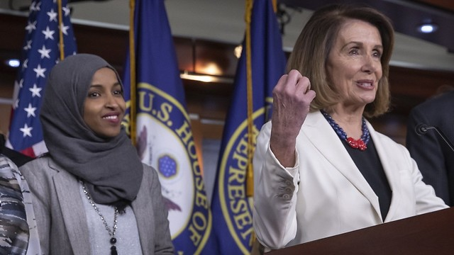 Speaker of the House Nancy Pelosi and Ilhan Omar (D-MN) (Speaker of the House Nancy Pelosi and Ilhan Omar (D-MN))