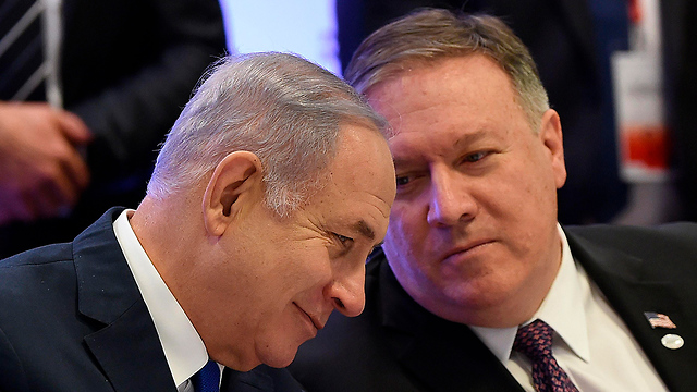 Benjamin Netanyahu and US Secretary of State Mike Pompeo at the Warsaw conference on the Middle East (Photo: AFP) (Photo: AFP)