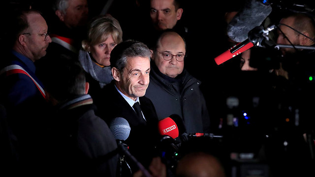 Former president Nicolas Sarkozy attends the protest against anti-Semitism in Paris (Photo: Reuters)