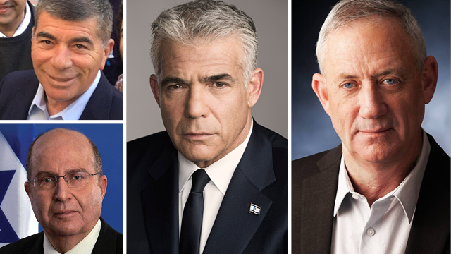 Left to right: Gabi Ashkenazi, Moshe Ya'alon, Yair Lapid and Benny Gantz