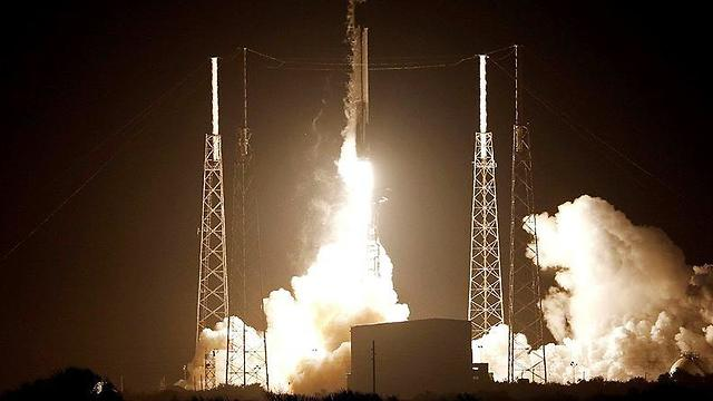 The Beresheet spacecraft during the launch in Florida (Photo: Reuters)