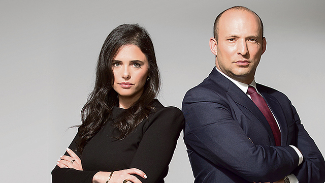 Ayelet Shaked and Naftali Bennett (Photo: Rami Zarnger)