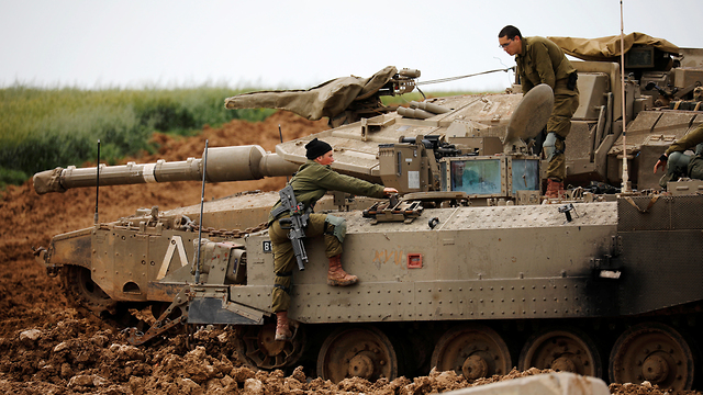 IDF troops on the Gaza border earlier this month (Photo: Reuters)