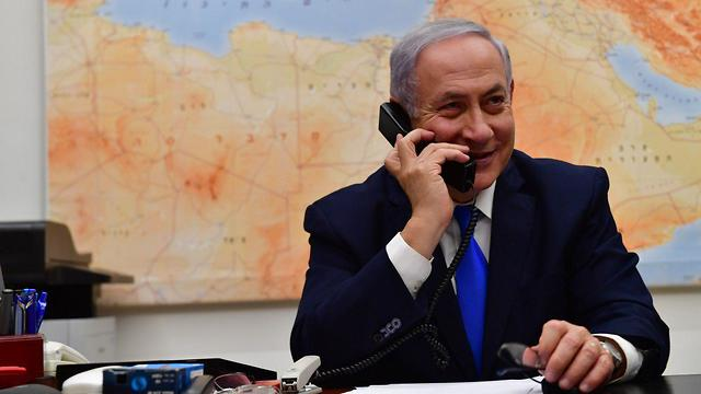 Netanyahu calls Trump to thank him for his support on the Golan issue (Photo: GPO)