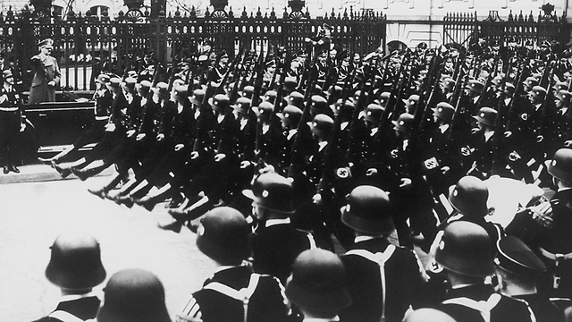 March of SS soldiers in Nazi Germany (Photo: Getty Images)