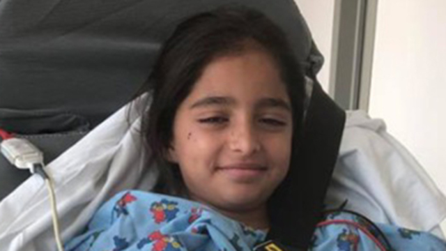 Noya Dahan, 8, was wounded in the attack