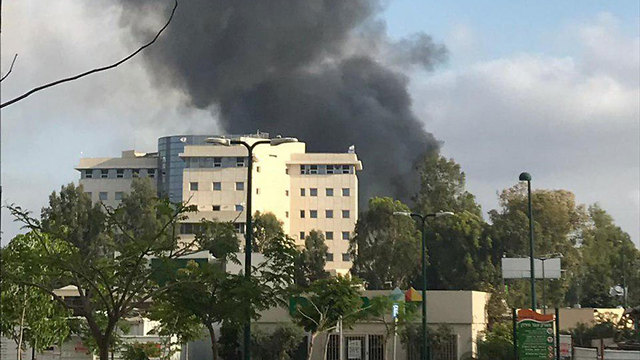 A fire in Tel Hashomer in central Israel