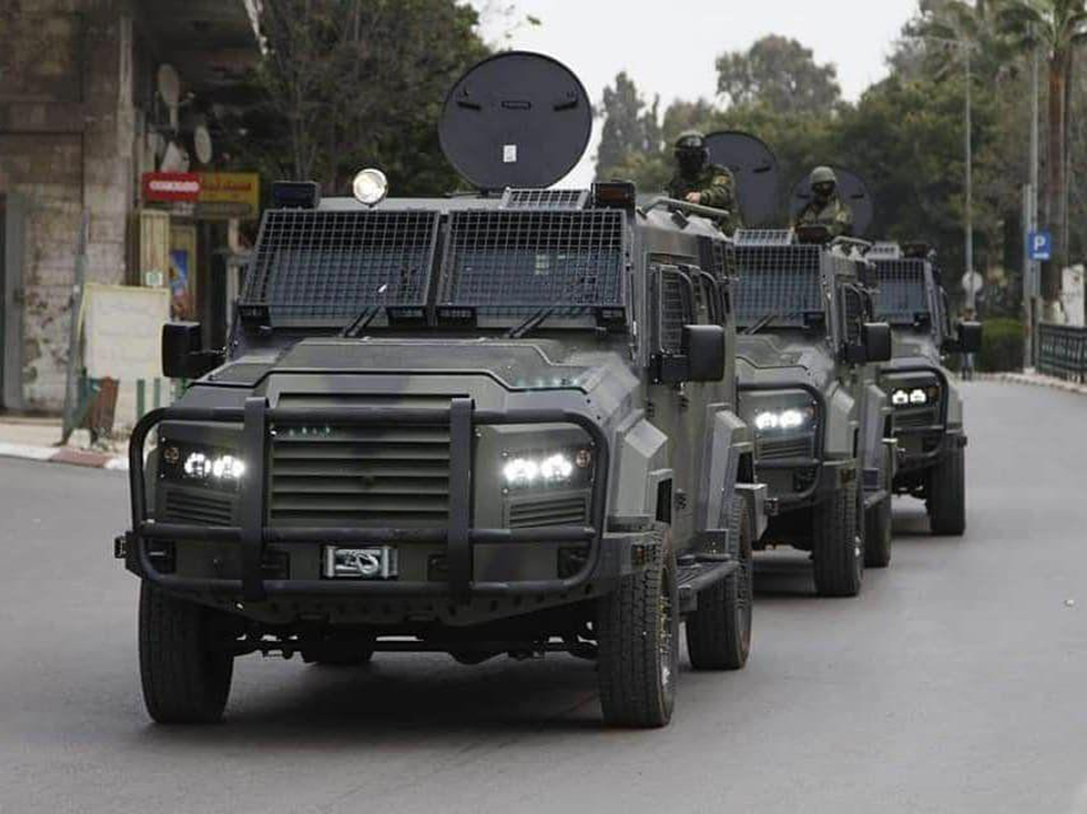 The PA recently received a fleet of armored vehicles from the U.S., with Israeli approval