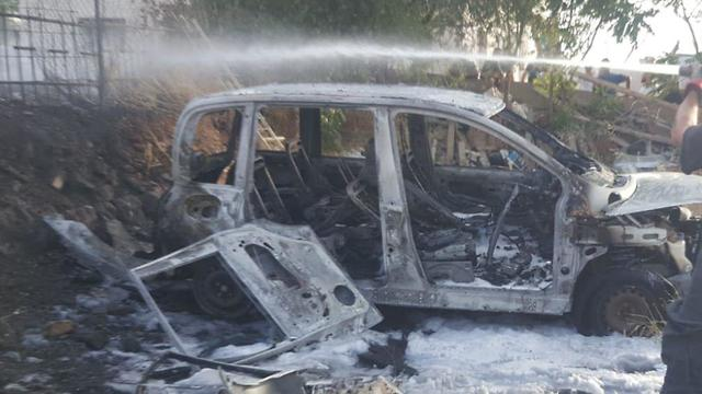 The aftermath of the deadly fire (Photo: Judea and Samaria district fire service)