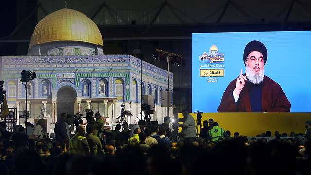 Nasrallah speach from early June 2019 (Photo: Reuters)