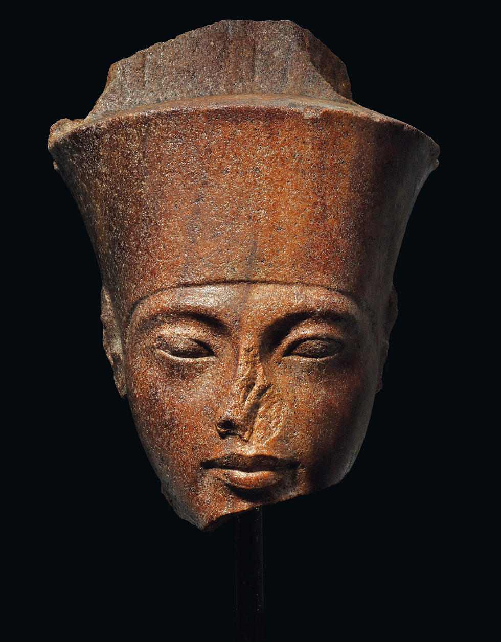 The Tutankhamun sculpture auctioned at Christie's (Photo: AFP)